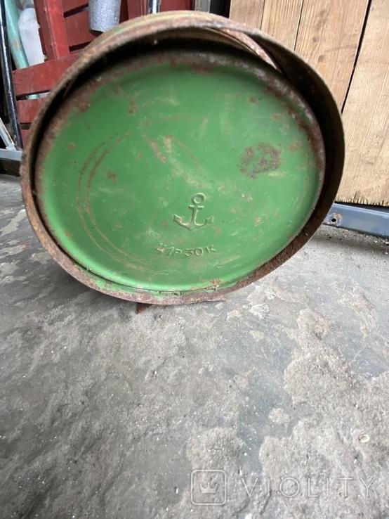 Лампа керосиновая. Зелёная., фото №5