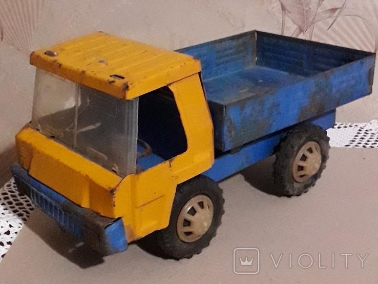 Большая (35,5 см.) железная грузовая машинка СССР 70-е годы, фото №2