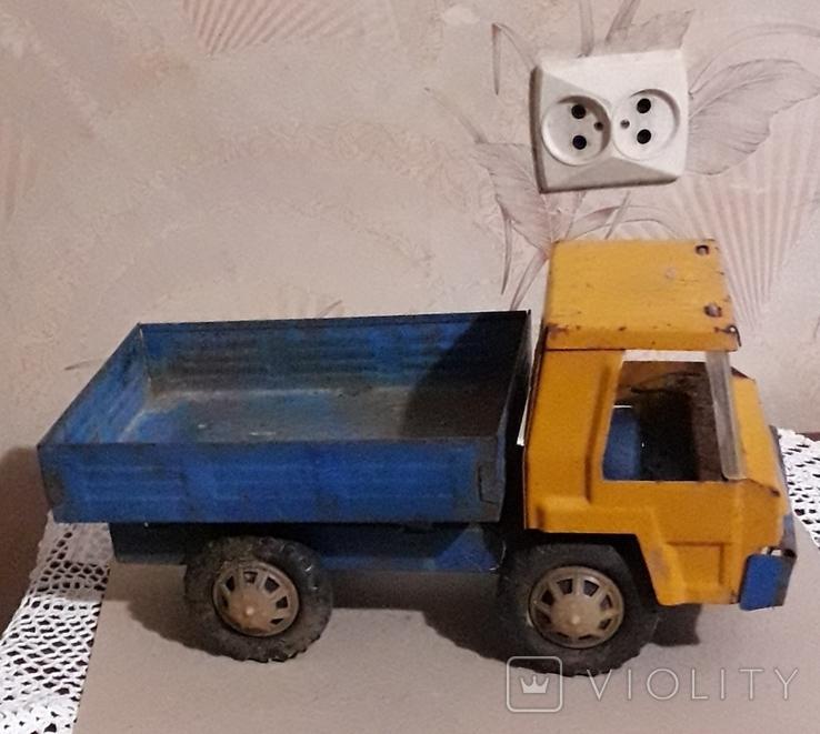 Большая (35,5 см.) железная грузовая машинка СССР 70-е годы, фото №3