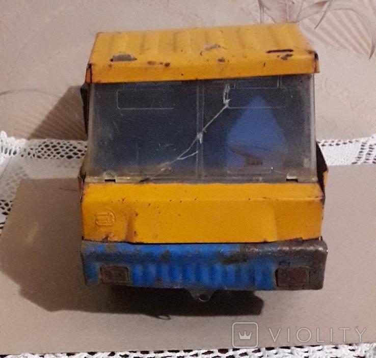 Большая (35,5 см.) железная грузовая машинка СССР 70-е годы, фото №5