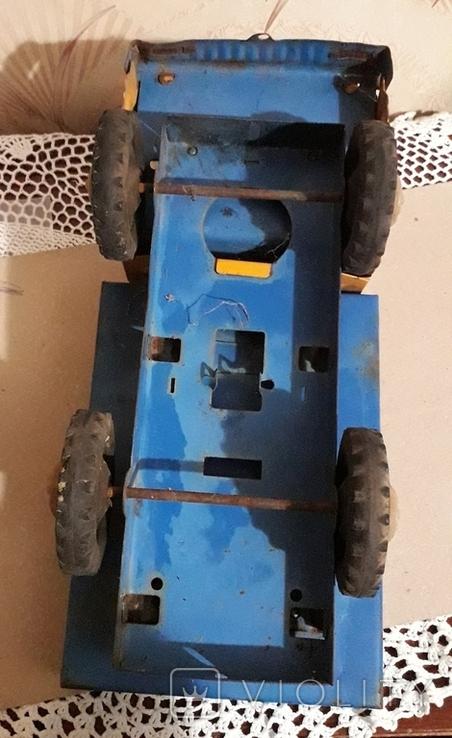 Большая (35,5 см.) железная грузовая машинка СССР 70-е годы, фото №6
