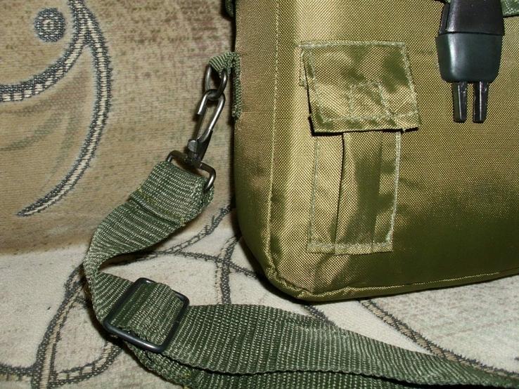 Фляга пластиковая USA 2QT с чехлом олива и ремешком через плечо (Mil-Tec, Германия), фото №6