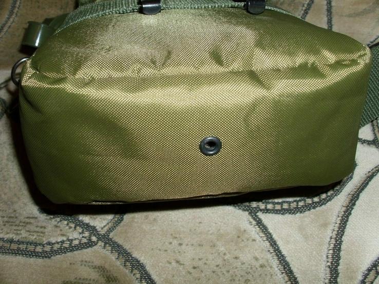 Фляга пластиковая USA 2QT с чехлом олива и ремешком через плечо (Mil-Tec, Германия), фото №11