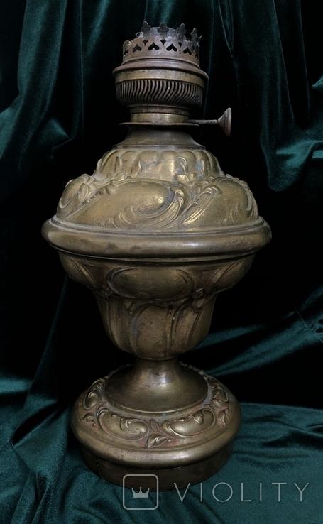Бронзова лампа,сецесія 1910-х років, фото №2