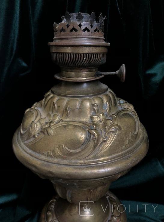 Бронзова лампа,сецесія 1910-х років, фото №3