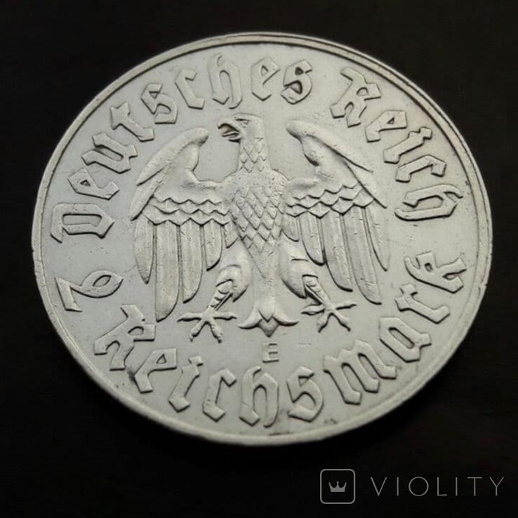2 марки 1933 (E) Мартин Лютер, фото №3