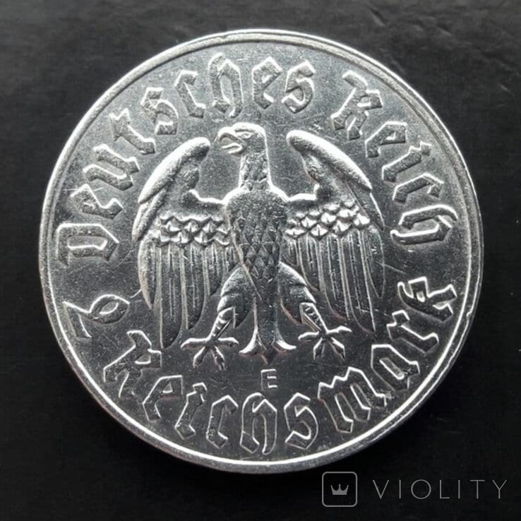 2 марки 1933 (E) Мартин Лютер, фото №5