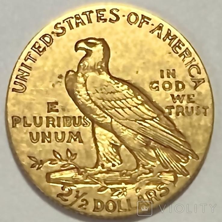2,5 доллара. 1911. США (золото 900, вес 4,12 г), фото №10