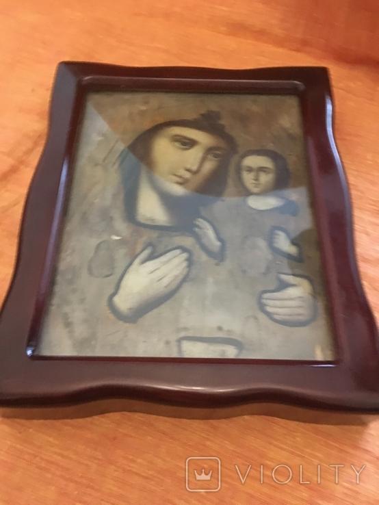 Ікона дерев'яна Божої Матері в кіоті, фото №9