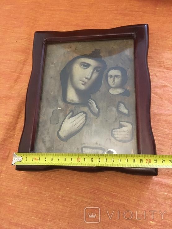 Ікона дерев'яна Божої Матері в кіоті, фото №11