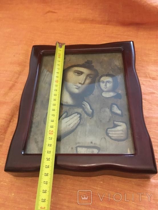Ікона дерев'яна Божої Матері в кіоті, фото №12