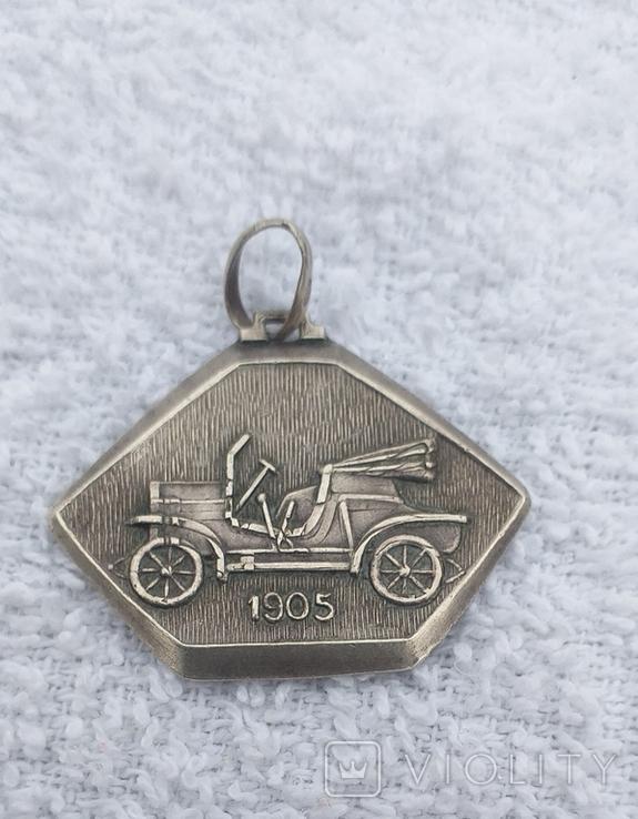 Серебряный медальон 800 пробы, фото №3