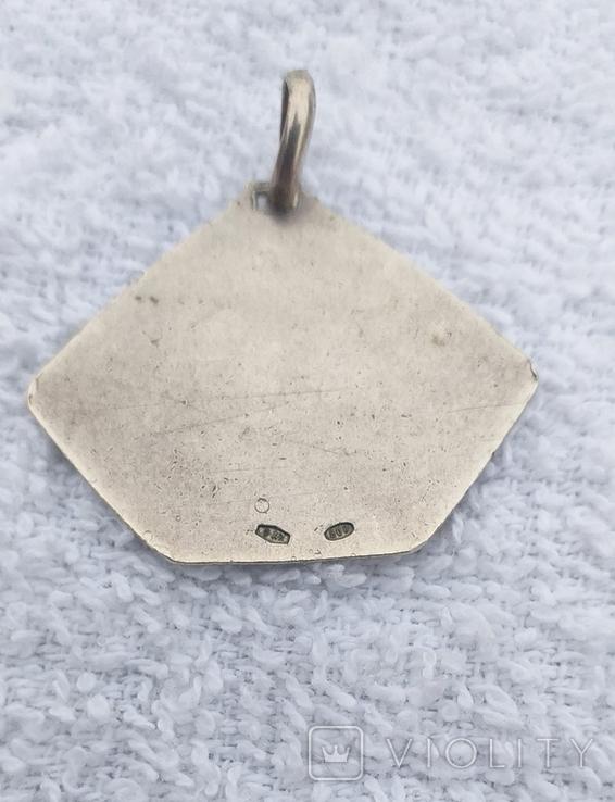 Серебряный медальон 800 пробы, фото №4