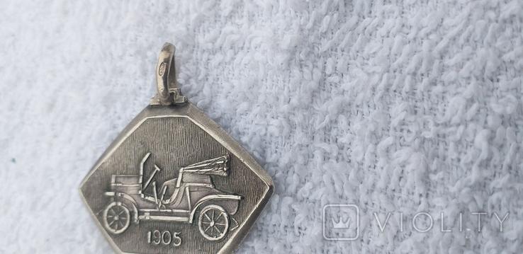 Серебряный медальон 800 пробы, фото №5