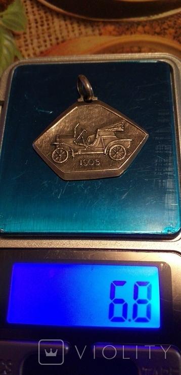 Серебряный медальон 800 пробы, фото №7