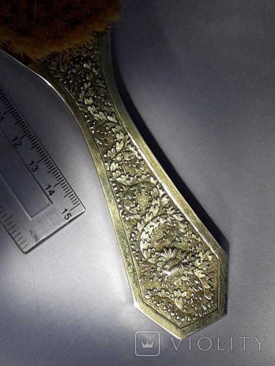 Одёжная щётка, оправа серебро, Индокитай. Красивая., фото №5