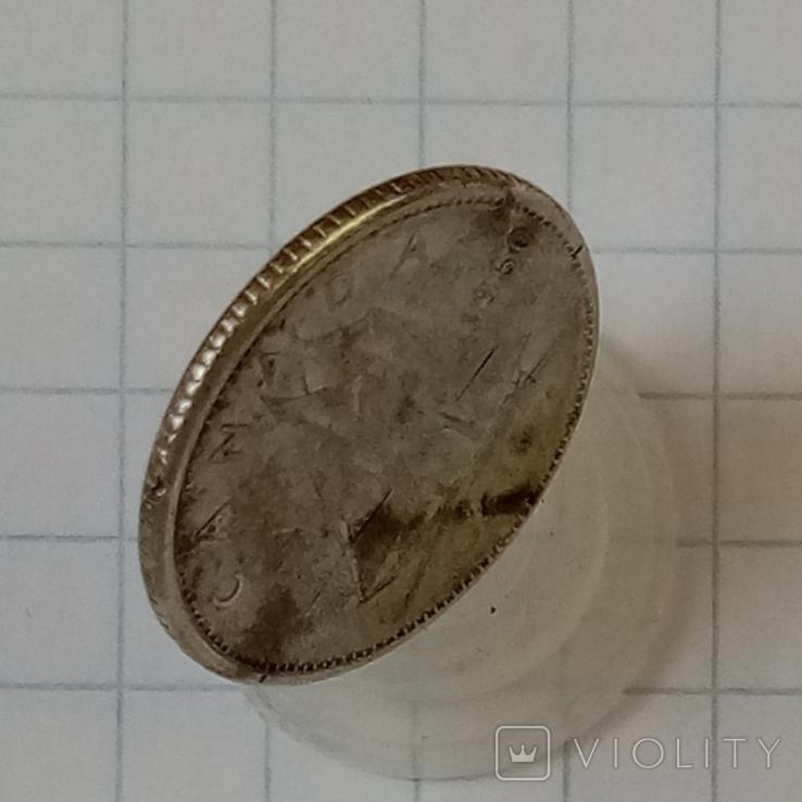 10 центов 1960г Канада серебро, фото №4