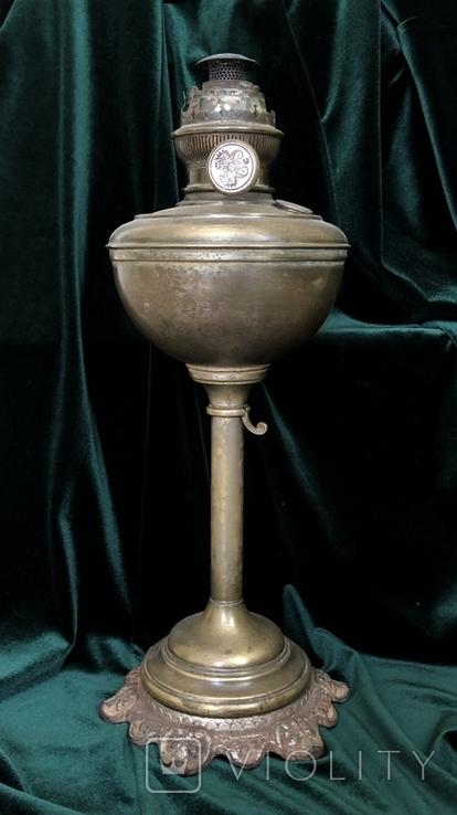 Бронзова лампа Чудо,дореволюційна, фото №2