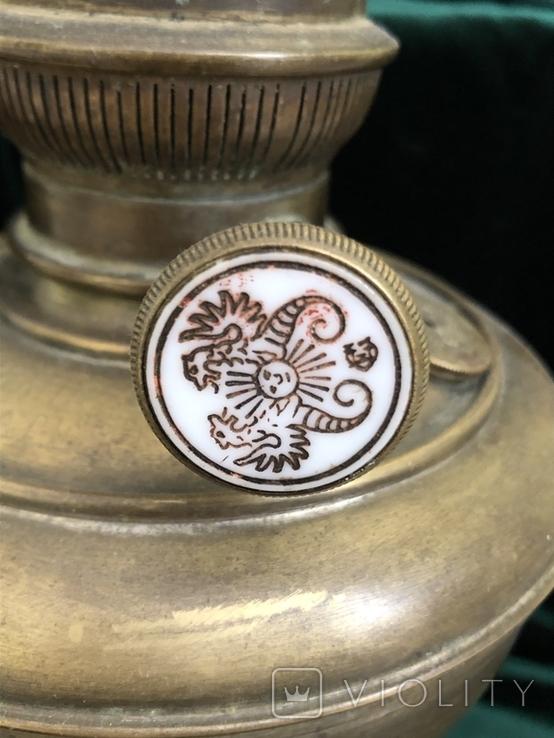 Бронзова лампа Чудо,дореволюційна, фото №5