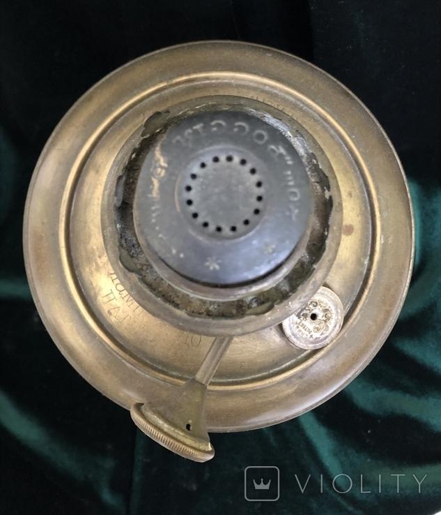 Бронзова лампа Чудо,дореволюційна, фото №7
