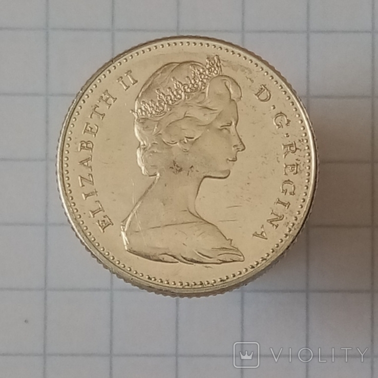 10 центов 1967г Канада серебро, фото №3