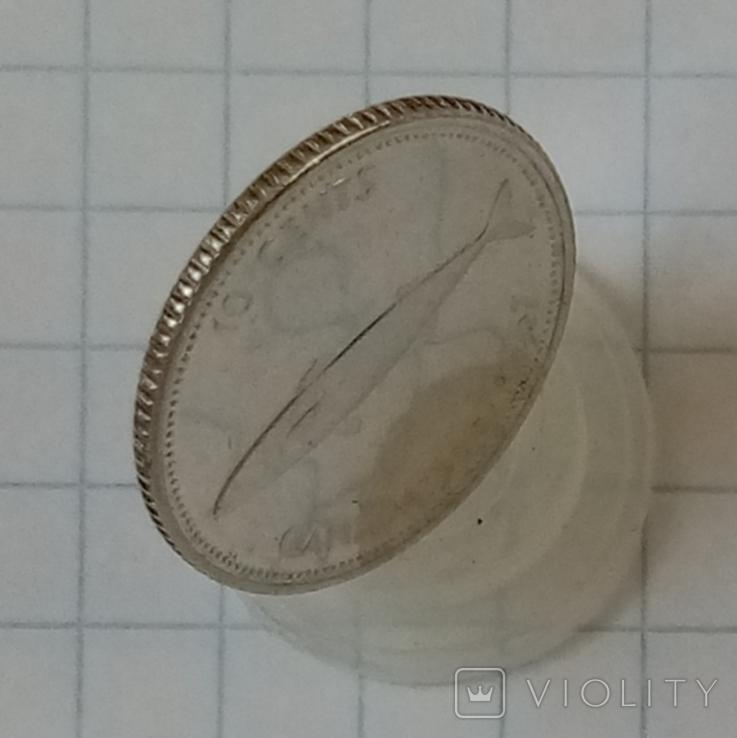 10 центов 1967г Канада серебро, фото №4