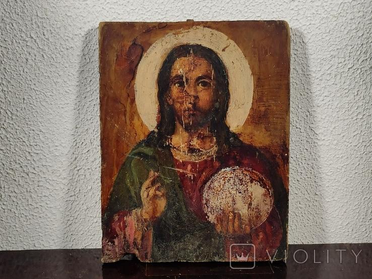 """Икона """"Иисуса Христа"""" 19x15 см., фото №2"""