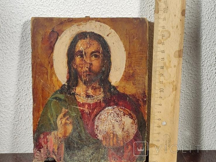 """Икона """"Иисуса Христа"""" 19x15 см., фото №6"""