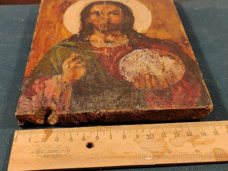 """Икона """"Иисуса Христа"""" 19x15 см., фото №7"""