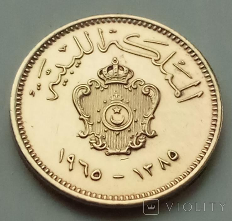 1 миллим 1965 г. Ливия, фото №2