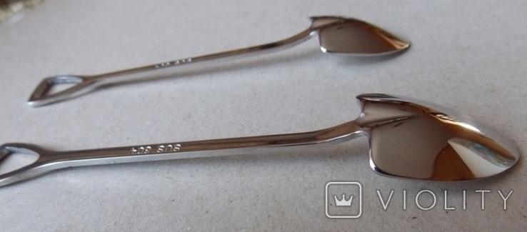 Сувенирные ложечки в виде лопаты.2 шт., фото №4