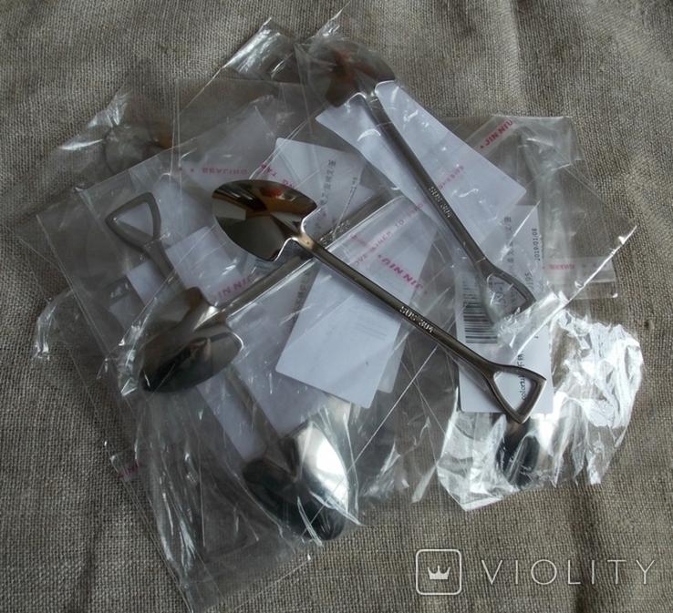 Сувенирные ложечки в виде лопаты.2 шт., фото №9