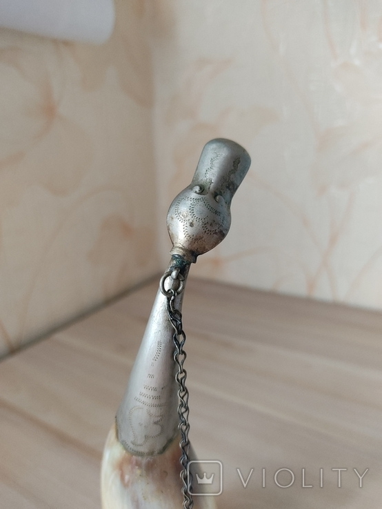 Рог сувенирный 22 см, фото №3