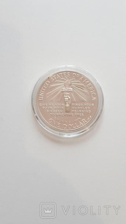 1 доллар США 1986 года. Статуя Свободы, серебро, фото №3