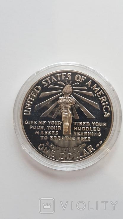 1 доллар США 1986 года. Статуя Свободы, серебро, фото №4
