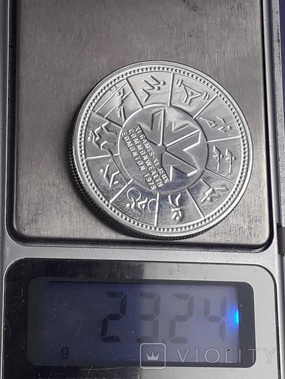 1 доллар, Канада, 1978 год, XI игры содружества в Эдмонтоне, серебро, фото №6