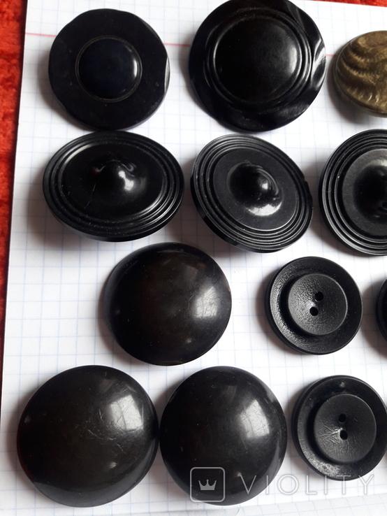 Винтажные пуговицы на жупан корсетку верхнюю одежду ( бакелит) 21 шт, фото №4