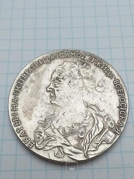 Рубль 1725 года, копия, фото №3