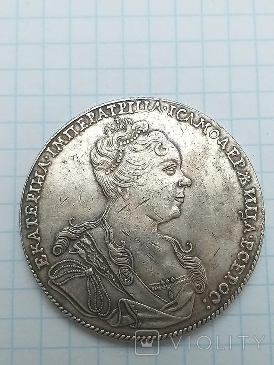 Рубль 1727 года, копия, фото №2