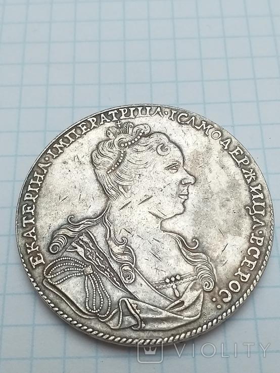 Рубль 1727 года, копия, фото №3