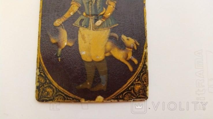 Миниатюра на кости, Охотник с уткой и собакой., фото №10