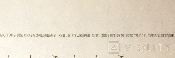 Открытка чистая: С наступающим... / худ-к Б. Пушкарев, изд-во Нью Тон, фото №6