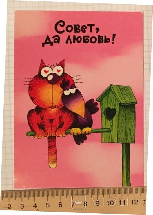 Открытка чистая: Совет да любовь! / худ-к С. Трубников, изд-во Нью Тон, фото №7
