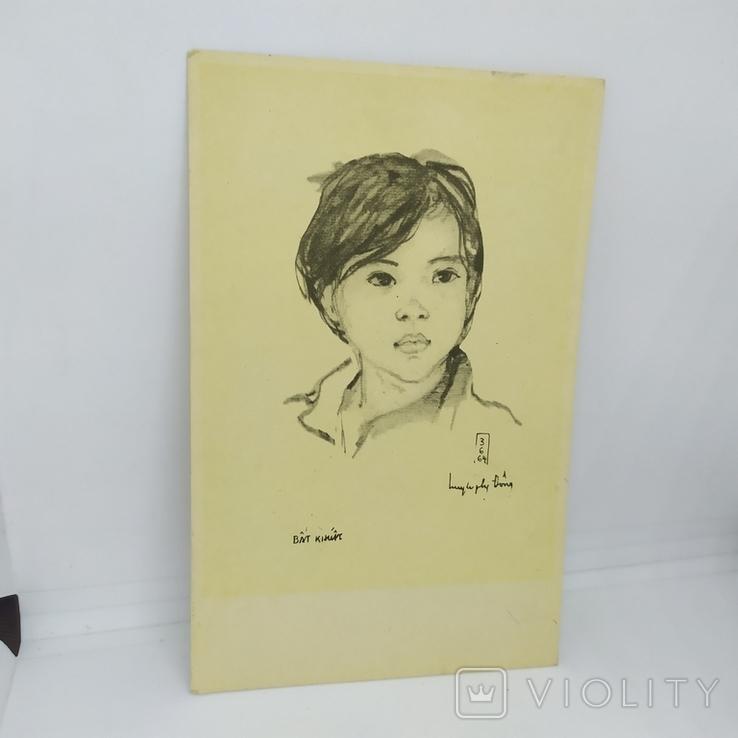 Открытка Вьетнам. Портрет девочки. чистая, фото №2