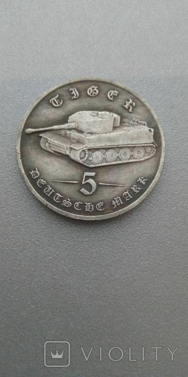 Германия 5 марок 1988 год копия монеты., фото №2