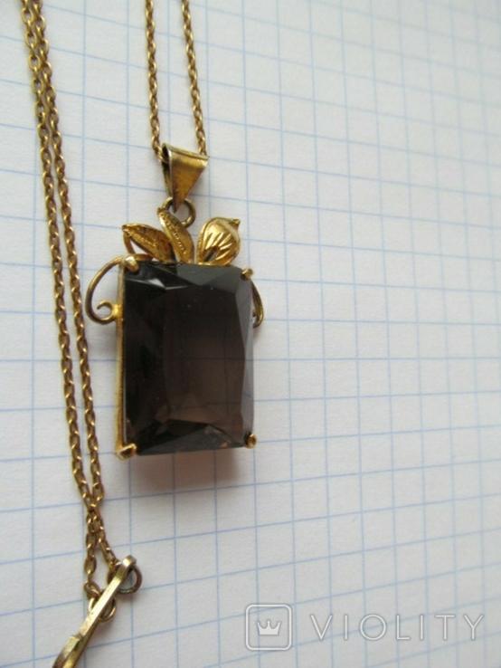 Кулон на цепочке. Серебро, фото №3