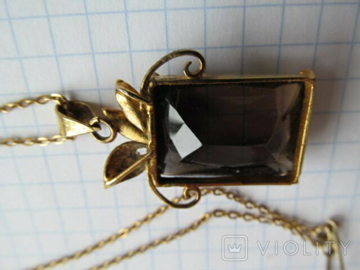 Кулон на цепочке. Серебро, фото №7