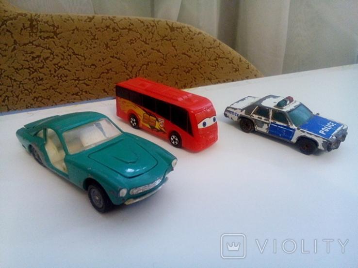 Машинки (3шт.) + бонус, фото №2
