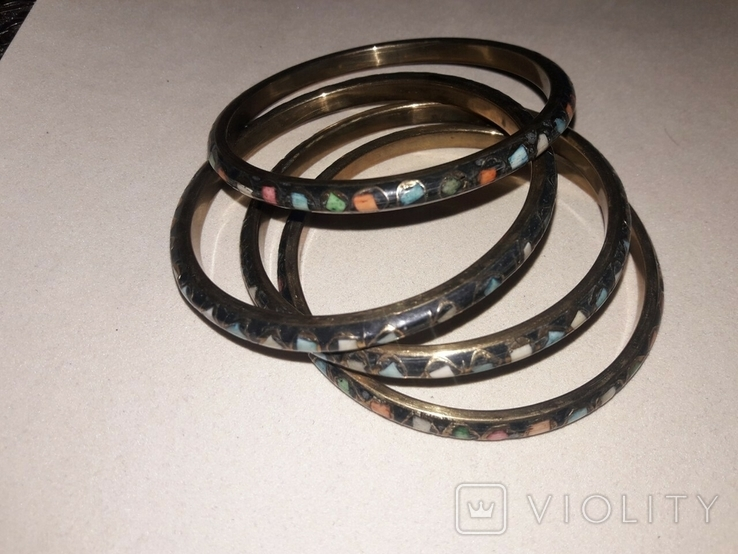 Набор из 4х стильных браслетов, фото №3