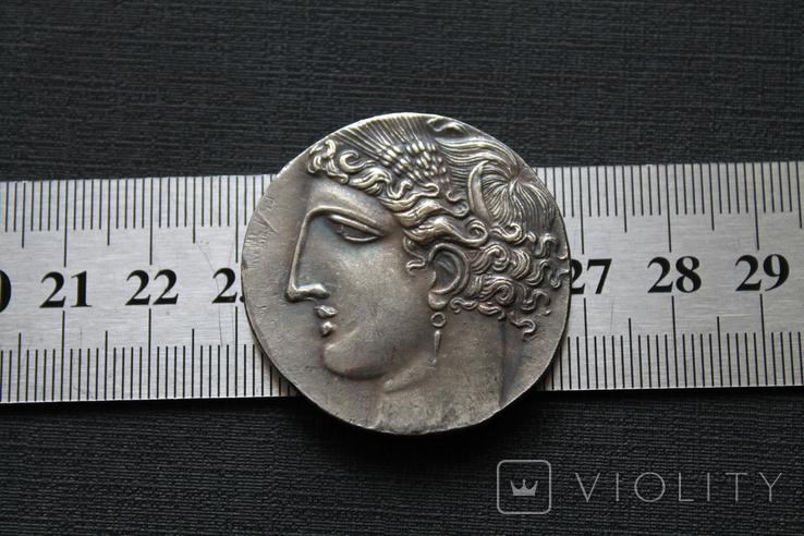 Карфагенская монета времён 1-й Пунической войны с изображением Пегаса (копия), фото №2